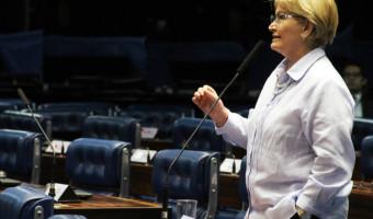 No Plenário, Ana Amélia reforça reivindicação da cadeia produtiva do leite