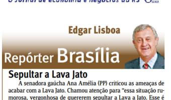 Jornal do Comércio: Edgar Lisboa - Sepultar a Lava Jato