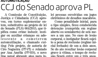 Correio do Povo: CCJ do Senado aprova PL