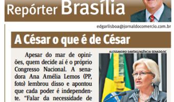 Jornal do Comércio: Edgar Lisboa - A César o que é de César
