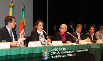 Produtores de arroz expõem dificuldades à ministra da Agricultura durante audiência do Senado em Porto Alegre