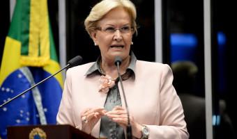 Ana Amélia aponta discriminação de Lula a estados não governados pelo PT