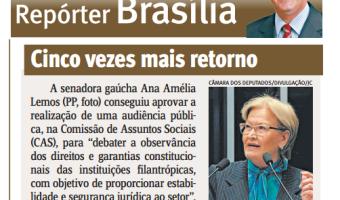 Jornal do Comércio: Edgar Lisboa - Cinco vezes mais retorno