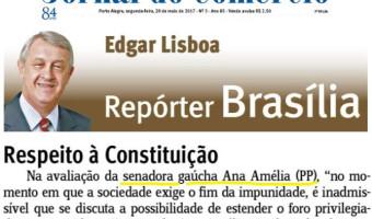 Jornal do Comércio: Edgar Lisboa - Respeito à Constituição