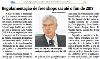 Jornal do Comércio: Regulamentação de free shops sai até o fim de 2017