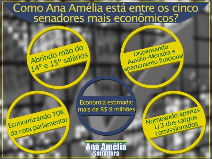 Economia de Ana Amélia no Senado é estimada em R$ 9 milhões